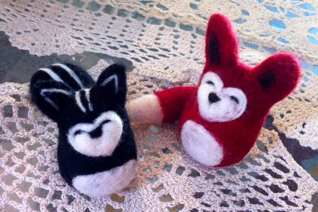 fox skunk artistleahwilson