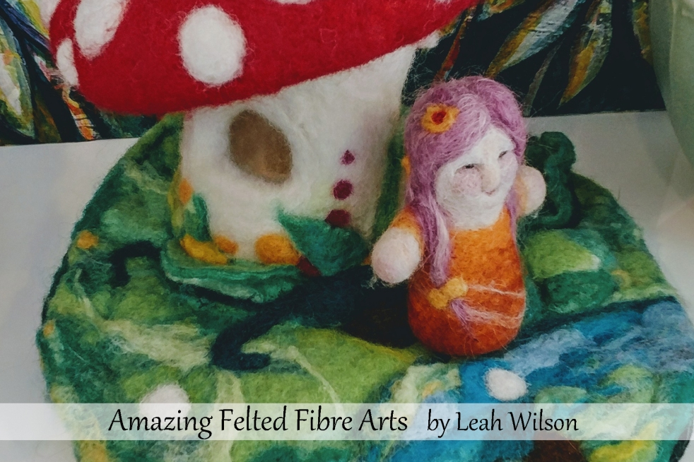 Needle Felted Little Girl Doll