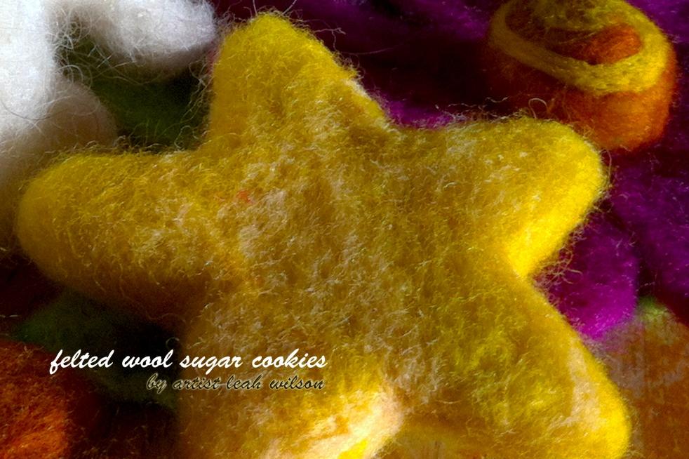 sugar cookie felted star