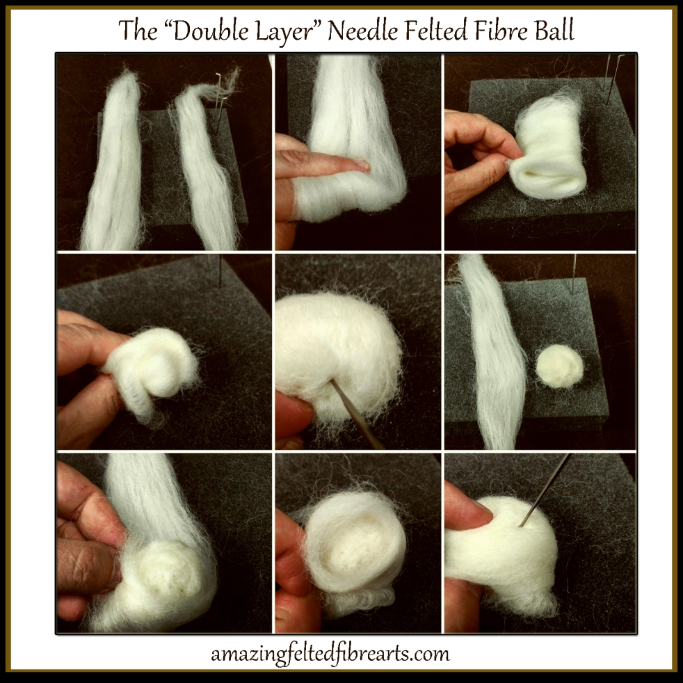 3d ball needle felting promo card