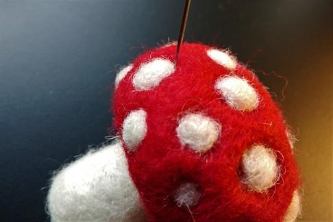 needle felted mushroom 3d LWW