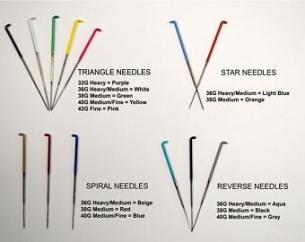 various needle felting needles