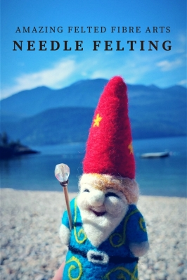 amazing felted fibre arts gnome