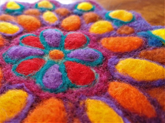 amazing felted fibre arts mandala workshop