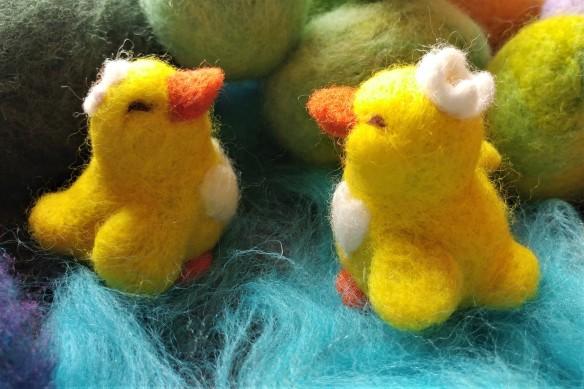 little ducky needle felted 4