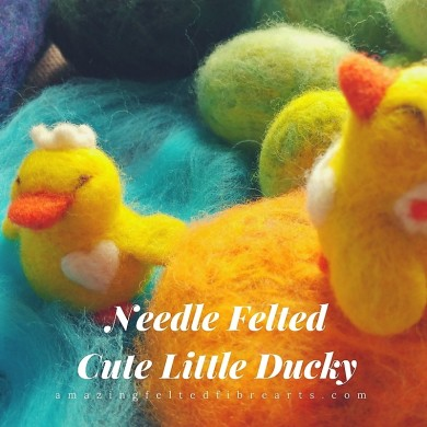 Needle FeltedCute Little Ducky