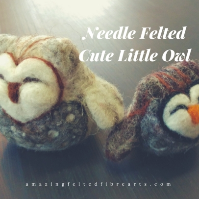 Needle FeltedCute Little Owl