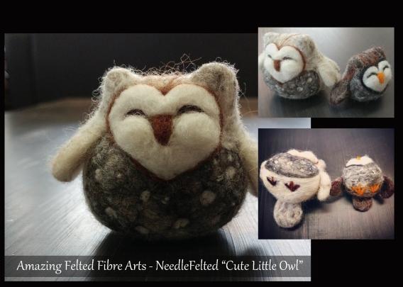 Needle Felting Cute OWL Workshop 5by7 (1)