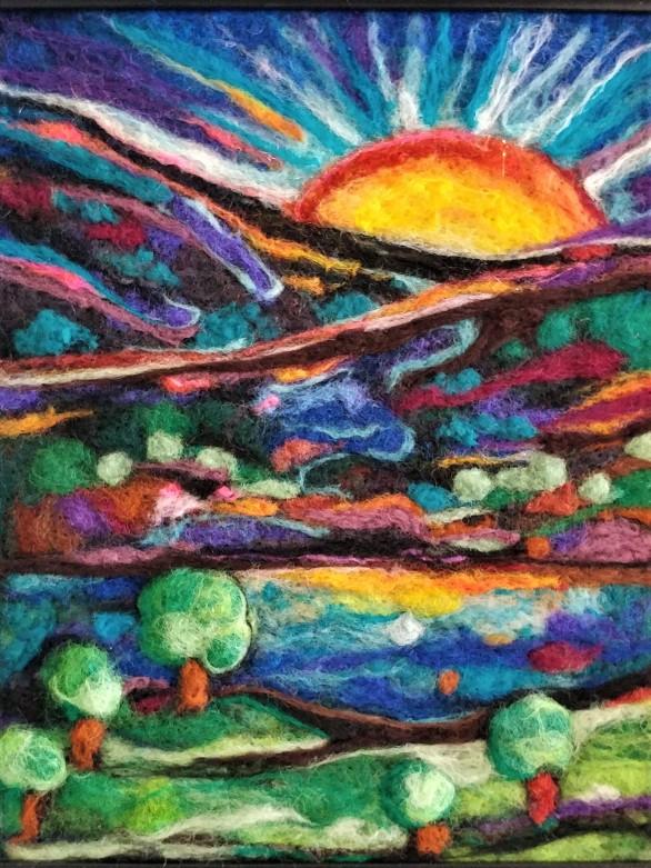 Vibrant Landscape by Amazing Felted Fibre Arts