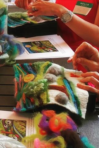 Hands Felting Needle Felting Workshop2017