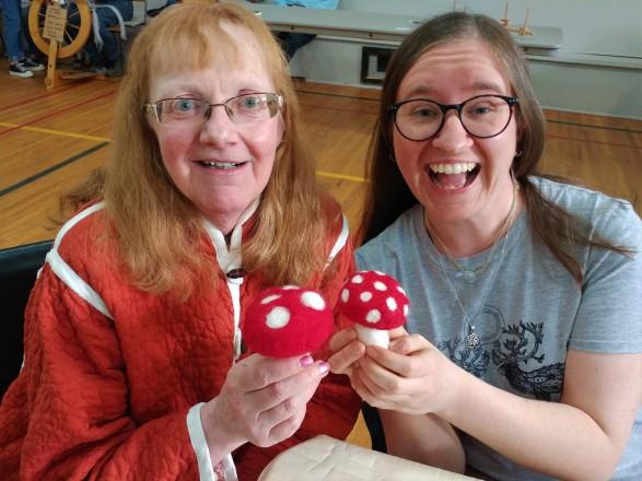 Paula Ashby felting mushroom
