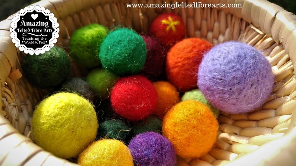 Balls Needle Felting 3D affa