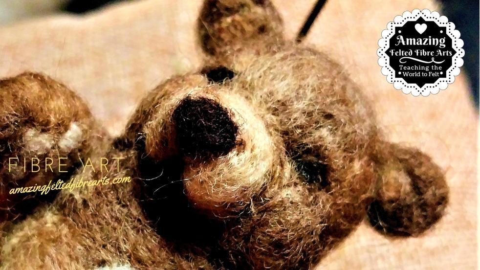 Cute Bear Needle Felted affa