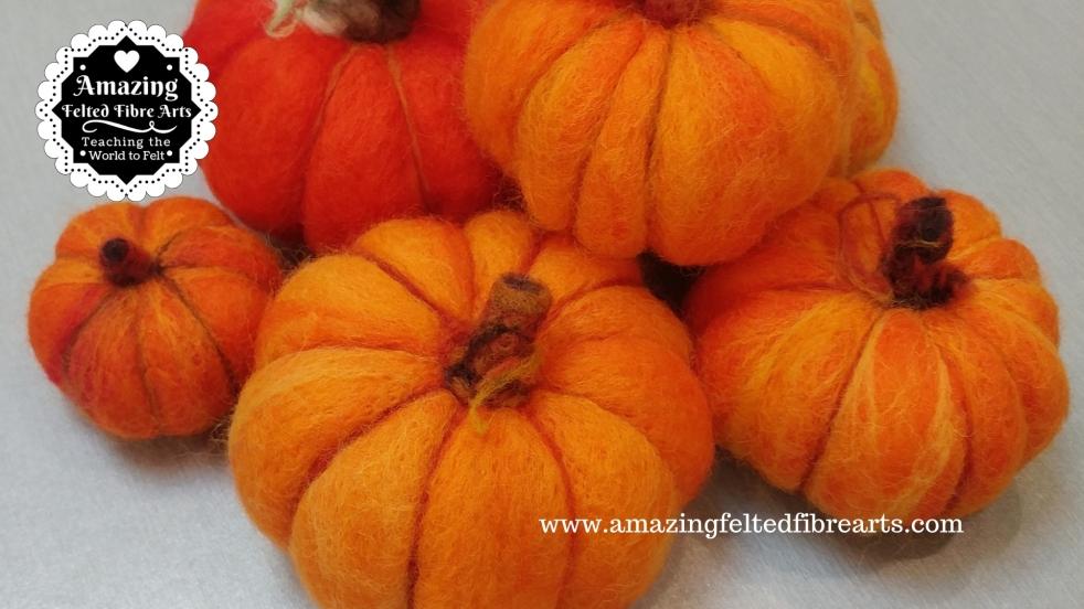 Plump Pumpkin Needle Felted 3D affa