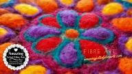 Mandala Needle Felted affa