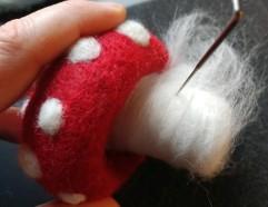 mushroom 3D needle felting