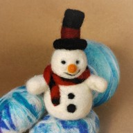 snowman promotional pic needle felting workshop