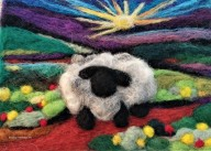 Vibrant Sheep Workshop Cover Photo by Amazing Felted Fibre Arts 5x7